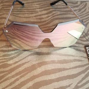 Rimless Mirror Sunglasses